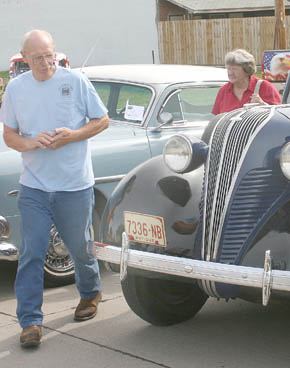 Ron Falk of Albion was on hand for Smoke n Chrome with his Hudson car and pickup.
