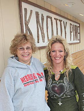 Cherylle Arends, left, and new Knotty Pine owner Trisha Griffith.
