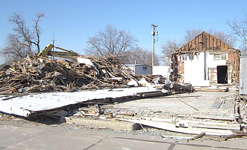 Demolition took place last Saturday at the former Rae Valley Market location in Petersburg.