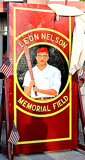 New sign for Leon Nelson field.