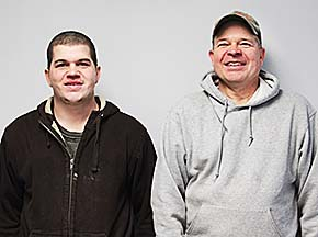 Austin and Joel Haber at Haber Tire and Auto, LLC.