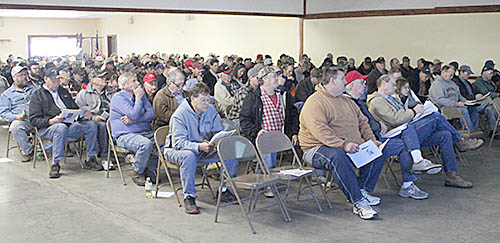A portion of the crowd on hand for last week's farm bill education meeting.