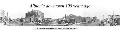 Downtown Albion in 1915.