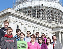 Boone Central students at the Capitol.