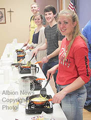 Omelets to benefit childhood cancer research.