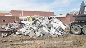 Former weight room removed at Boone Central High School.