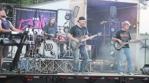 The Rude Band performs at Petersburg Saturday night.