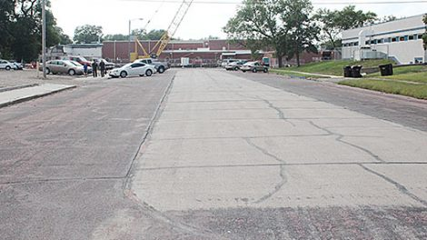 This one-block section of Columbia Street in Albion will be closed to traffic during working hours Monday through Friday starting next Monday, Aug. 29.