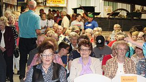 A portion of the crowd attending the Smoyer-Wathen program last Sunday.