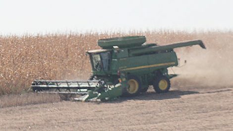 Harvest operation south of Albion last Saturday.