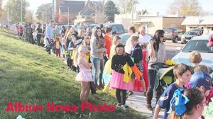 Lineup for last year's Halloween Parade.