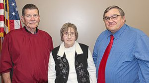 Boone County retirees honored at a Dec. 28 reception were, l.-r., Darrel Thorin, Nina Johnson and Jerry Tisthammer.