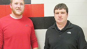 New Boone Central School Board members are Ed Knott, l., and Justin Frey.