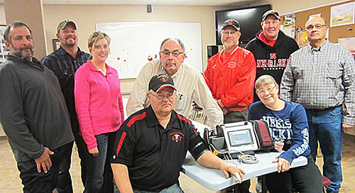 Petersburg Rescue personnel with the new vital signs monitor.