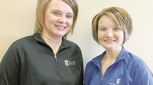 Jessica Jacobi, l., and Mary Hellbusch are BCHC nurse navigators.
