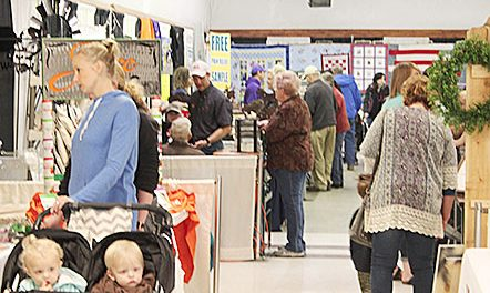 Crowds view exhibits at the 2017 Boone County Home, Farm and Garden Show.