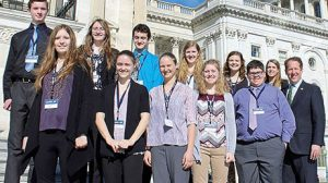 Boone Central students at the U.S. Capitol.