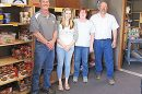 Unloading food at the Boone County Food Pantry were (l.-r.)Scott Stuhlmiller, Sentinel general manager; Jamie Couch, administrative assistant; Nancee Krohn, Boone County Food Pantry Board member, and Bruce Benne, Sentinel purchasing/shipping manager.