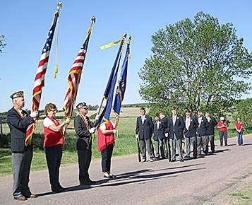 Color guard and honor guard at the Petersburg Memorial Day program.