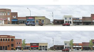 An example of street-scape drawings to be used for planning downtown.