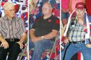 Quilts of Valor recipients, l.-r., Ray Prothman, George Christo and Ron Weltruski.