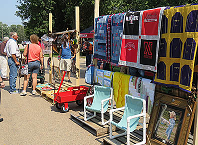 Quilts and outdoor furniture were among the items sold at the annual St. John's Parish Auction.