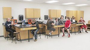 Science classrooms have been in use since last week. Floor finishing is yet to be completed.