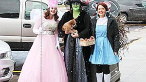 The Connect Now crew dressed up as the cast of Alice in Wonderland, including the Good Witch of the North, Wicked Witch of the West, and Dorothy.
