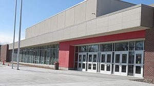New main entrance of Boone Central High School.
