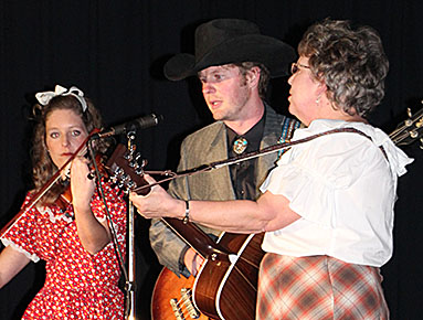 """Katie, Marcus and Jill Johnson perform during """"Hee Flaw 2.0."""""""