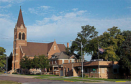St. Michael's Catholic Church and School in Albion.