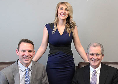 Partners in the newly merged law firm are, l.-r., Jeff Jarecki, Brandi Yosen and Thomas Maul.